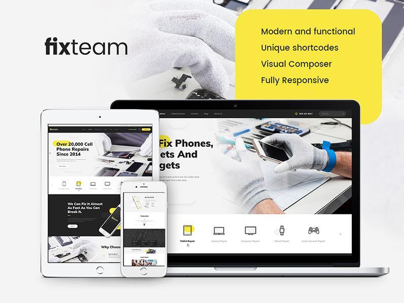 Fixteam - mẫu website sửa chữa điện tử