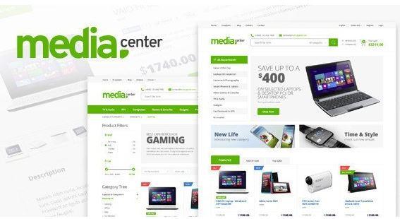 Media Center - mẫu website bán hàng điện tử lớn