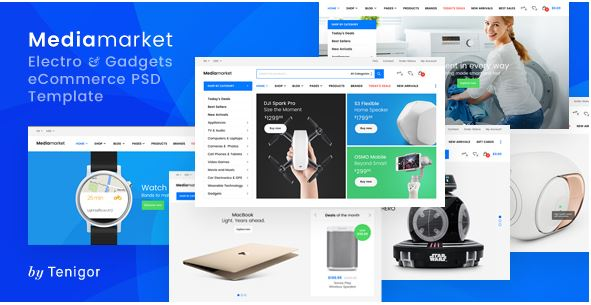 Media Market - mẫu website bán điện thoại truyên thống