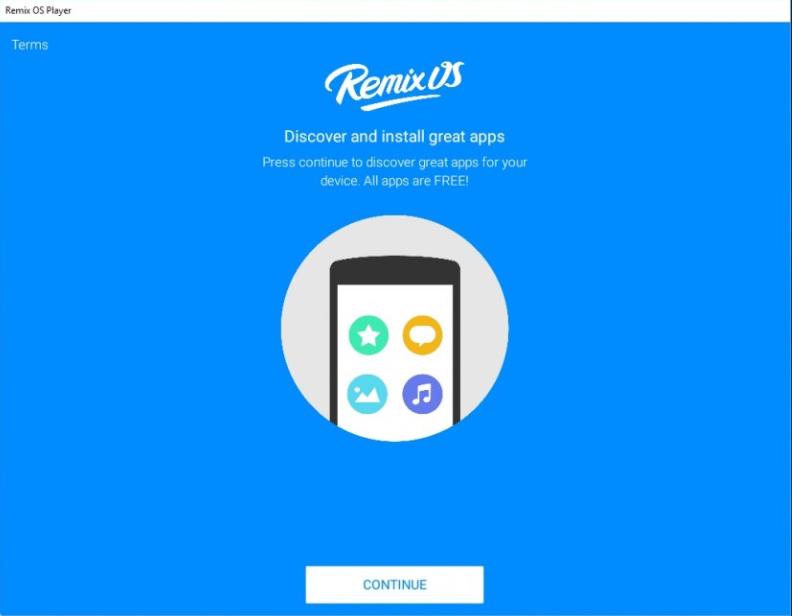 Phần mềm Remix OS Player.