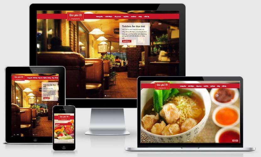 Xu hướng thiết kế website nhà hàng hiện đại